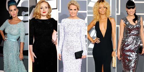 Gaun Terbaik Selebriti di Grammy Awards 2012