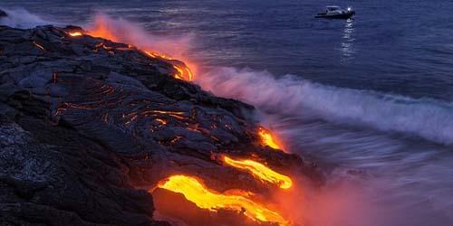 Lava Hidup di Gunung Berapi Kilauea Hawaii