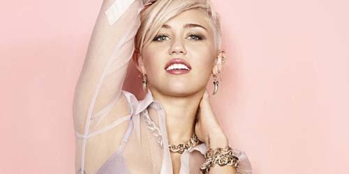Miley Cyrus Pamer Belahan Dada di Cosmopolitan