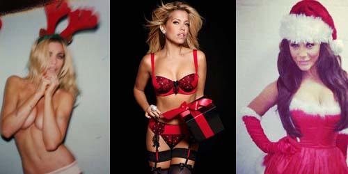 Para Selebriti Tampil Seksi dengan Kostum Natal