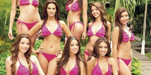 Para Wanita Calon Miss Kolombia 2012 dalam Balutan Bikini