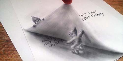 Tampak Nyata, Ilusi Gambar 3D dari Pensil Karya Ramon Bruin
