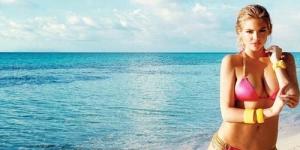 Aksi Seksi Kate Upton di Iklan Bikini