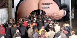 Iklan Lucu dan Kreatif Website Agen Kerja Jerman jobsintown.de