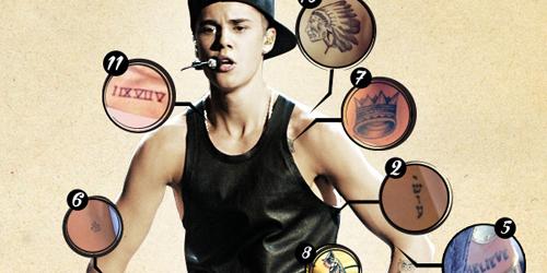 Justin Bieber miliki 11 tato @celebuzz