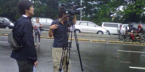 Jauh - Jauh Dari Jepang, Nippon TV Khusus Liput banjir Jakarta