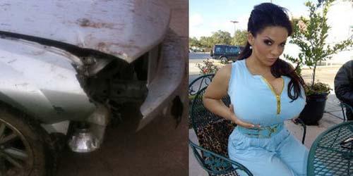 Seorang Wanita Selamat dari Kecelakaan Maut Karena Payudara Jumbonya