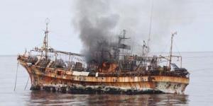 'Kapal Hantu' Tsunami Jepang Tenggelam di Teluk Alaska