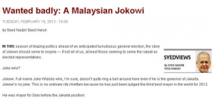 Malaysia Inginkan Jokowi