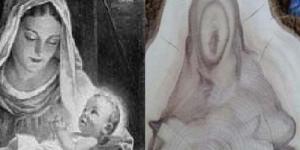 Muncul Penampakan Bunda Maria di Bongkahan Kayu Pinus