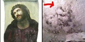 Muncul Penampakan Wajah 'Yesus' Di Kulkas Tua