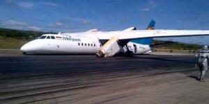 Pesawat Merpati Tergelincir di Bandara El Tari Kupang