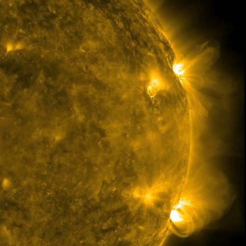 Gambar Badai Matahari Secara Dekat