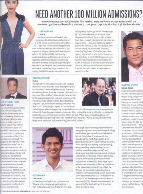 Iko Uwais Masuk daftar 5 aktor Asia terbaik versi The Hollywood Reporter