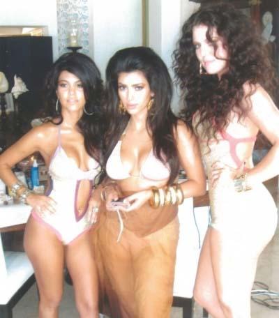 khloe, kim, kourtney kardashian bikini