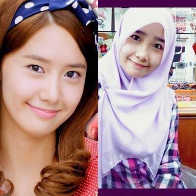Gadis berjilbab Malaysia sangat mirip dengan YoonA Girls Generation