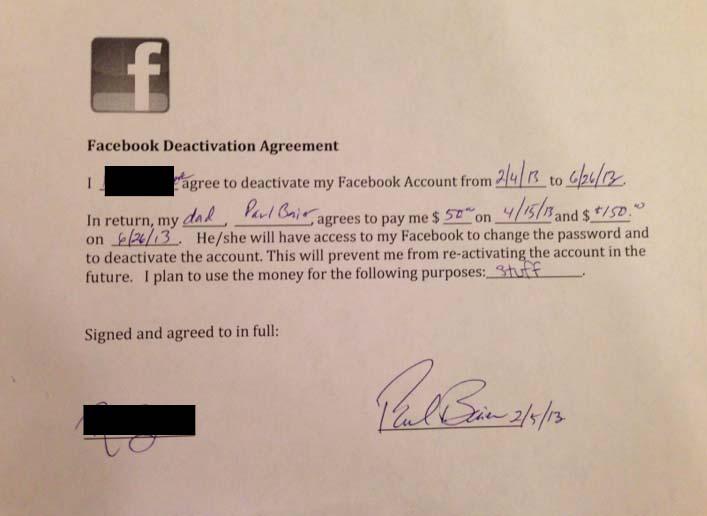 Berhenti bermain facebook, anak ini dapat $ 200