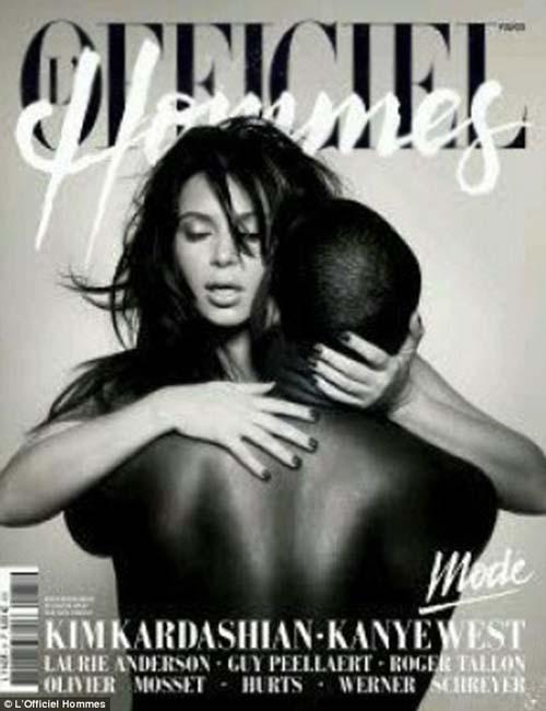 Kim Kardashian Kanye West Majalah Perancis