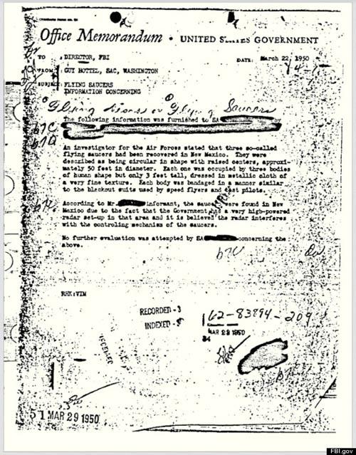 Dokumen rahasia FBI tentang UFO
