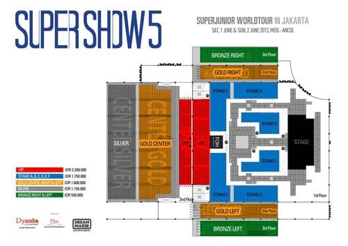 Seat Plan Super Show 5