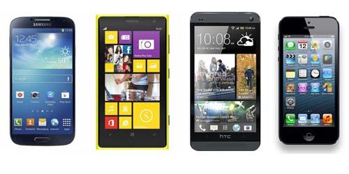 Perbandingan Nokia Lumia 1020 vs Samsung Galaxy S4, iPhone 5, HTC One