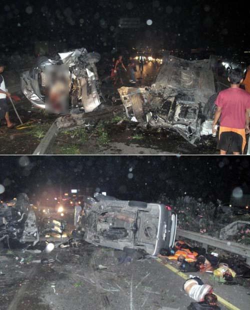 Foto korban kecelakaan maut Tol Jagorawi
