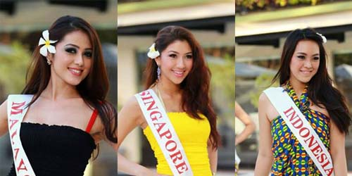 Cantiknya Kontestan Miss World 2013 dengan Kain Sarung Bali