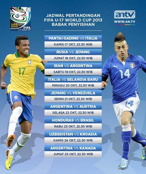 Jadwal Piala Dunia U-17 2013