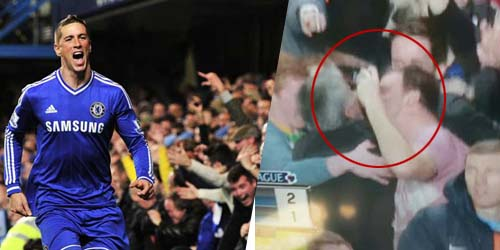 Torres Cetak Gol, Jose Mourinho Dipeluk dan Dicium Suporter Pria Chelsea