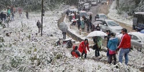 Pertama Kali, Hujan Salju Terjadi di Vietnam