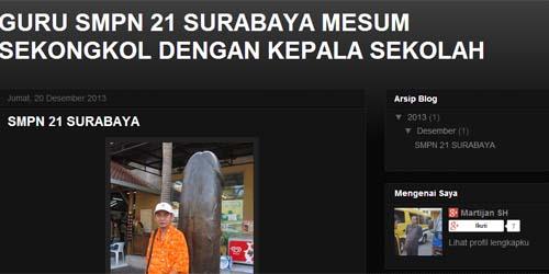 Heboh Foto Mesum Sepasang Guru SMPN 21 Surabaya
