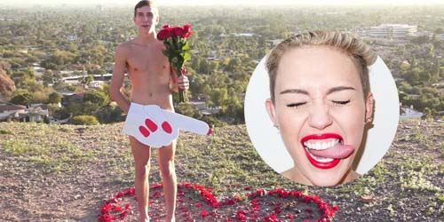 Nekat Telanjang demi Miley Cyrus