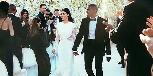 Foto Ciuman Mesra Pernikahan Kim Kardashian - Kanye West