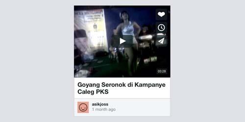 Vimeo Diblokir Gara-gara Video Goyang Seronok di Kampanye Caleg PKS?