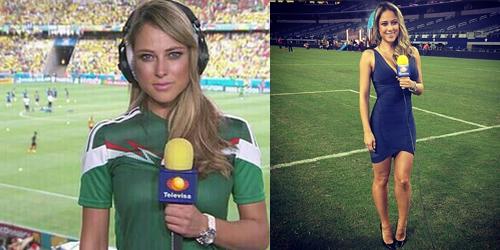 Vanessa Huppenkothen, Reporter Seksi Meksiko Hebohkan Piala Dunia 2014