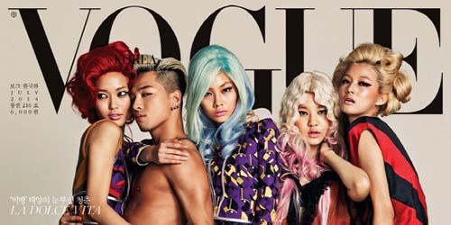 Taeyang Big Bang Topless Bareng 4 Model Seksi di Vogue