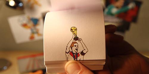 3 Gol Terbaik Piala Dunia 2014 Versi Flipbook