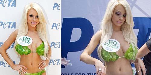 Dukung Vegetarian, Courtney Stodden Seksi Kenakan Bikini Selada