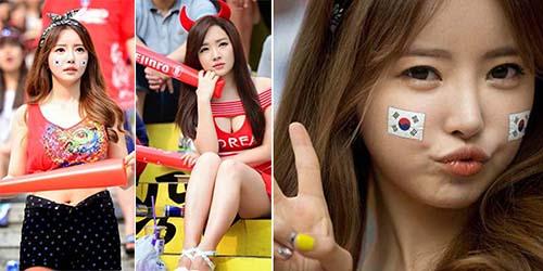 Foto Suporter Seksi Korea Selatan di Piala Dunia 2014