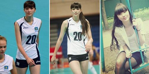 sabina altynbekov atlet voli cantik kazakhstan idola baru