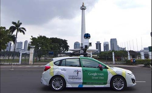 Google Street View Car Jakarta
