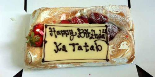 Kue ulang tahun Marshanda