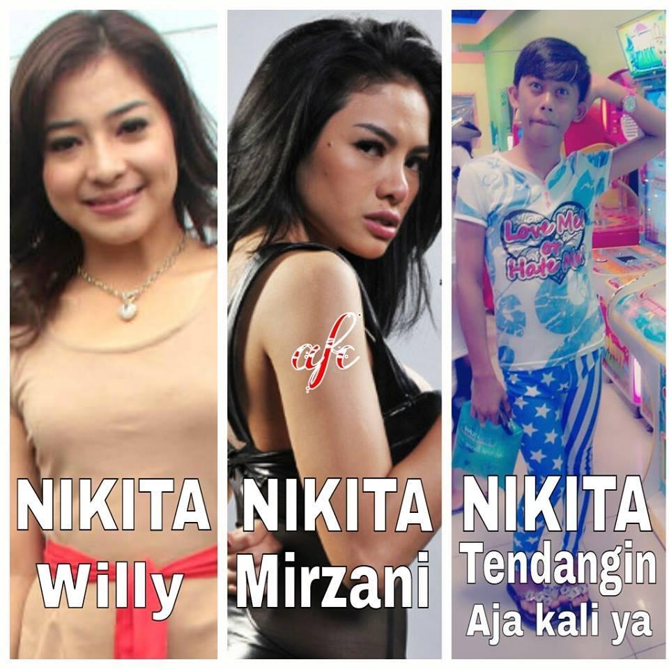 FOTO Meme Lucu Plesetan Nama Artis Nikita Tendang Aja Kaliya