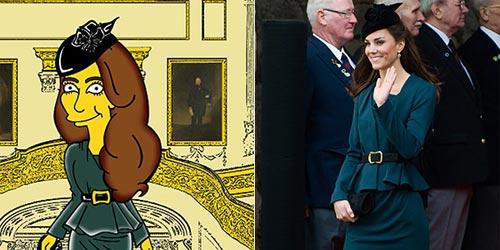 Foto Kate Middleton Jadi Kartun The Simpsons