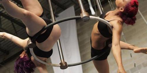 Michelle Arvin, Wanita Hamil ini Tetap Latihan Sirkus Berbahaya