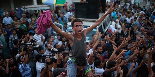 Rakyat Palestina Sambut Kemenangan atas Israel
