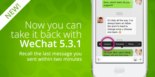 WeChat Hadirkan Fitur Pembatalan Kirim Pesan
