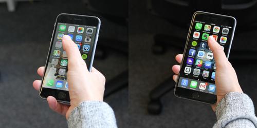 iphone 6 satu tangan
