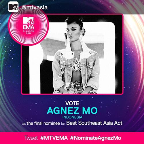 Agnez Mo nominator MTV EMA