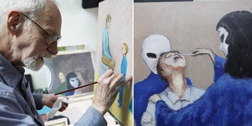Pengakuan Pelukis David Huggins Diculik Alien saat Masih Bocah